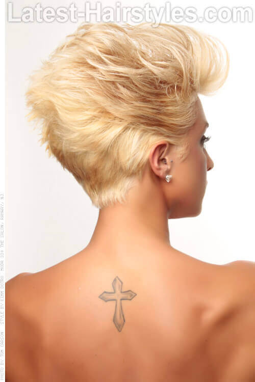 Grease Lightening Light Blonde Style Back View