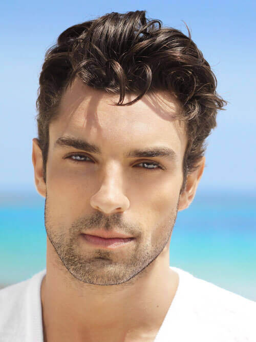 Thick Casual Curls. A Casual Hairstyle For Guys With Curly Thick Hair