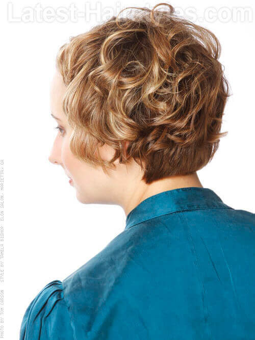 Simply Twisted Short Curls in Twists Off The Face with Highlights