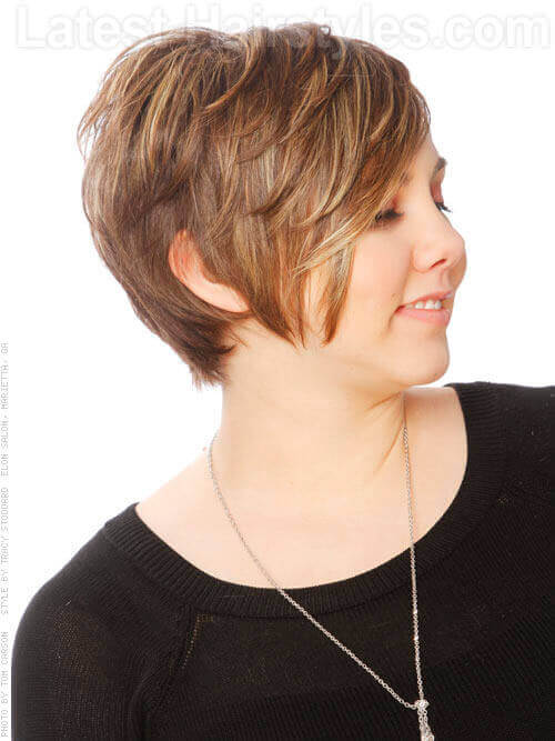 Light Brown Short Haircut With Layers