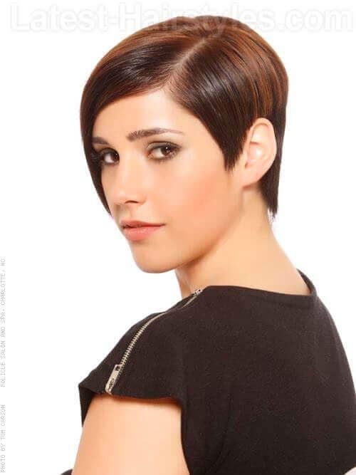 Shiny Asymmetric Short Haircut