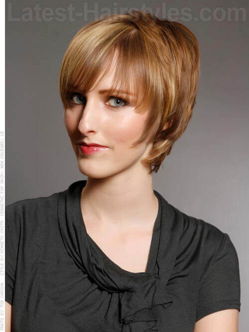 Layered Brushed Forward Short Haircut