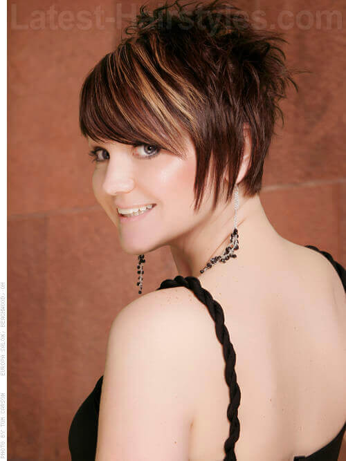 Red Spiky Short Haircut for Women