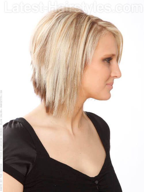 Straight Blonde Layered Bob Hairstyle