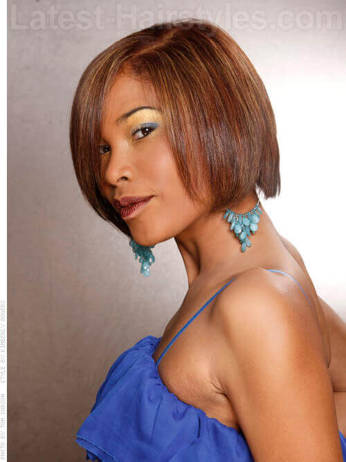 Classic One Length Bob Hairstyle