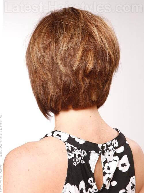 Piecey Stacked Short Haircut Back View
