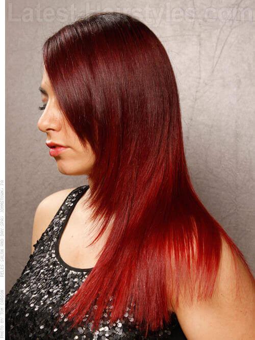 Racey Redhead Long Straight Silky Lush Hair