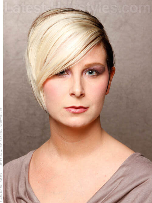 Short Hairstyle with Chunky Highlights