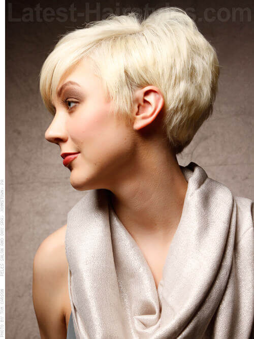Edgy Platinum Blonde Short Hairstyle