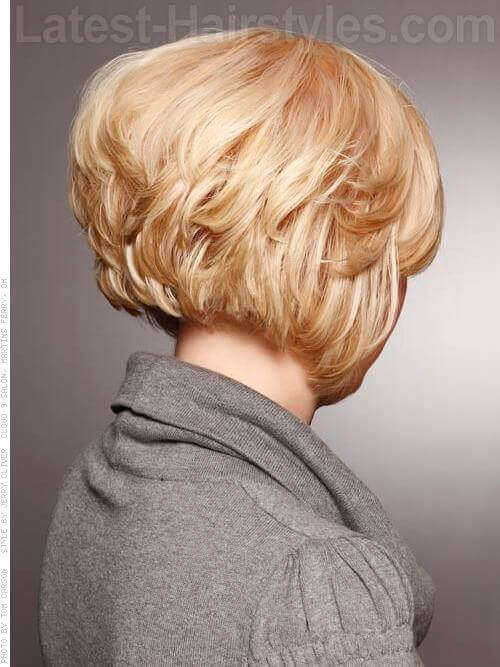 Classic Graduated Blonde Bob Haircut