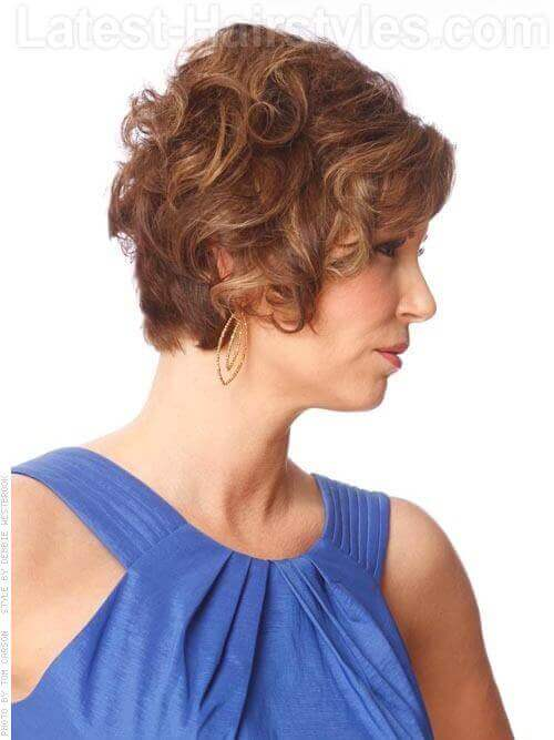 Updo Illusion Short Layered Look Side Bangs Side View