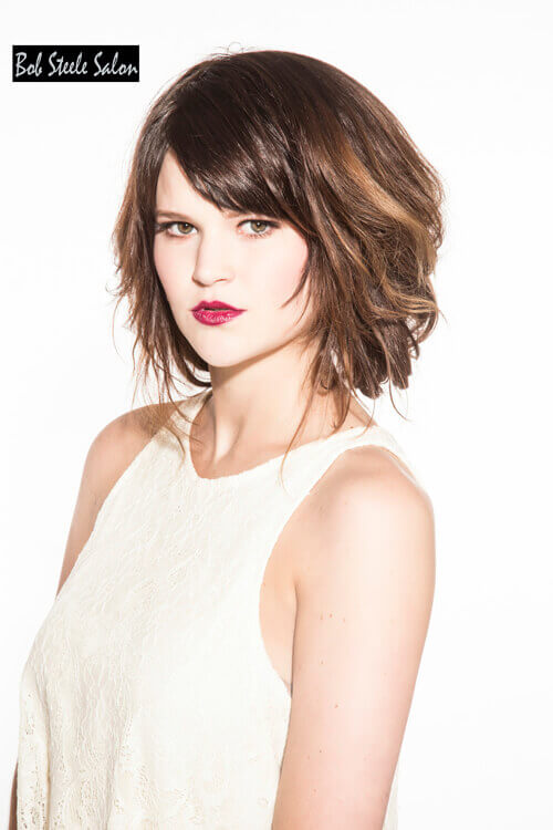 A Line Bob with Light Airy Texture