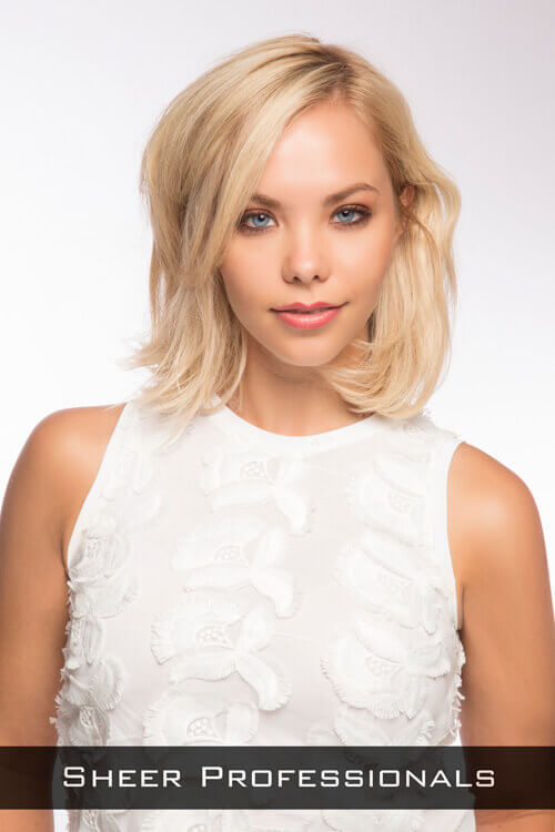 Blonde Shoulder Length Bob with Layers