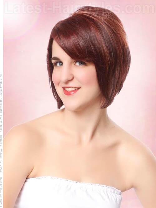 Burgundy Hair Color on Short Hair