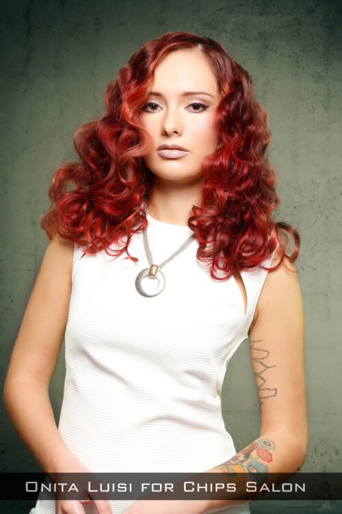 Burgundy Hair Color with Darker and Lighter Pieces