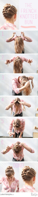 French Knotted Bun Tutorial