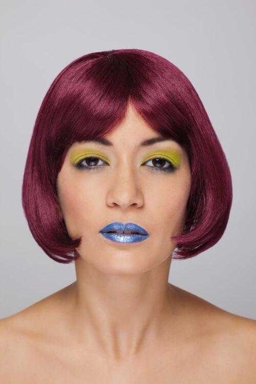 Fuchsia Haircolor on Bob Hairstyle