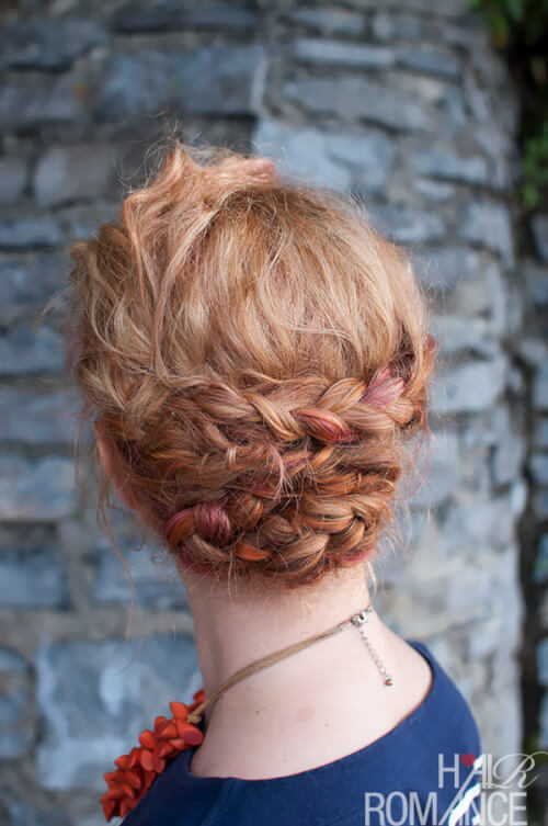 Romantic Braid Holiday Updo Hairstyle