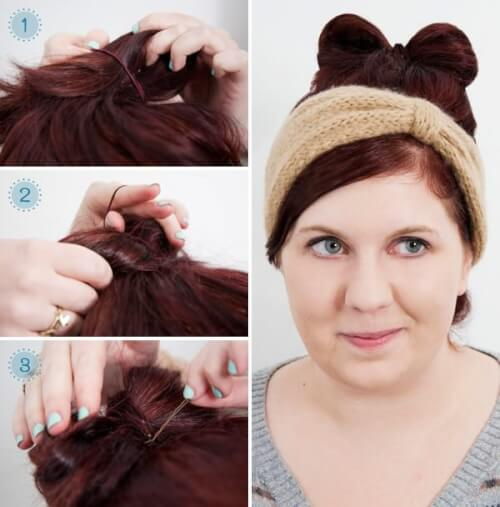 Hair Bow Bun Hairstyle Tutorial