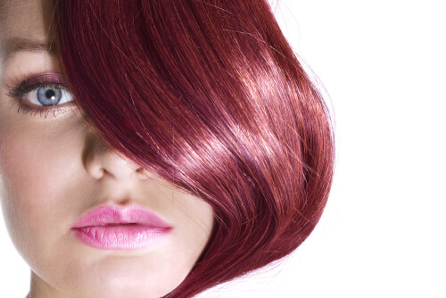 Haircolor with Violet Glaze