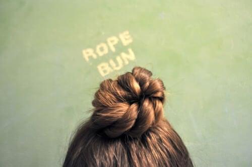 Rope Bun Hairstyle Tutorial