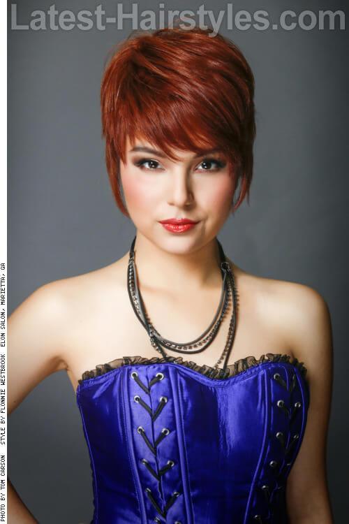 Sassy Burgundy Hair Color