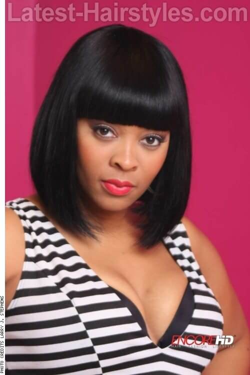 Sleek Bob with Blunt Fringe