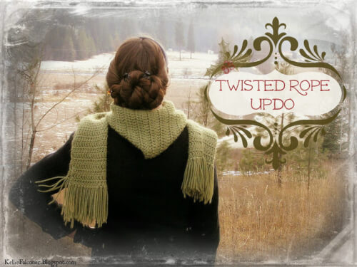 Twisted Rope Braid Updo Hairstyle