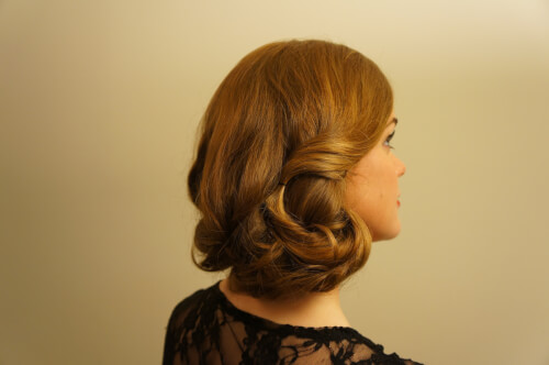 female shaved hairstyles : Vintage Faux Bob Hairstyle