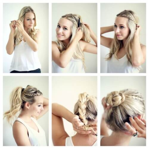 Braided Bun Windy Hairstyle Tutorial