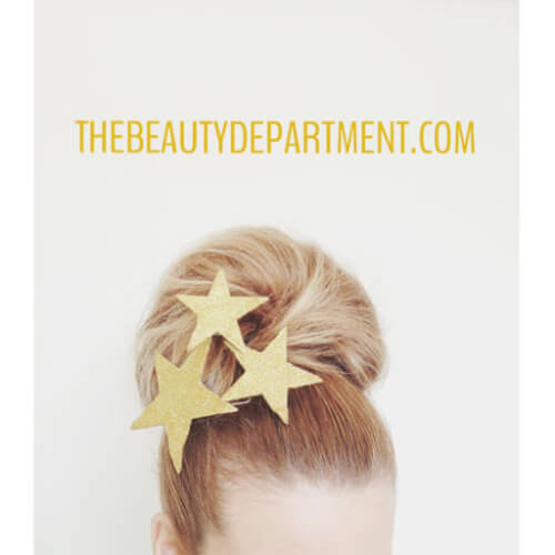 Giant Holiday Updo Bun Hairstyle