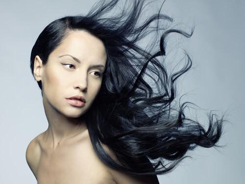 Ink Glossy Dark Hair C...