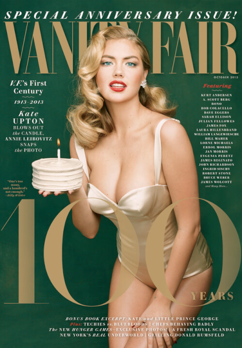 Kate Upton's Vintage Waves Magazine Cover Hairstyle