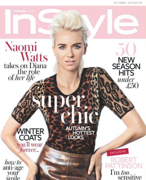 Naomi Watts' Rockin Coiffure on the Cover of InStyle UK