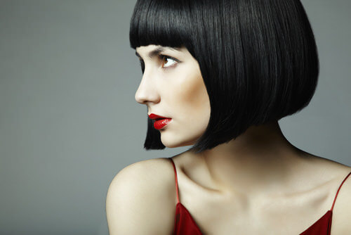 Neutral Black Hair Color Bob
