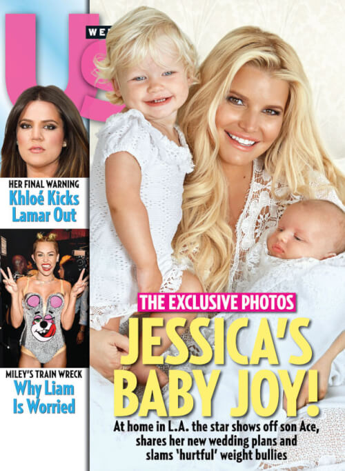 Jessica Simpson's Simple Waves on the Cover of US Weekly