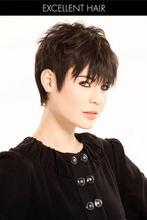 Angled Pixie Short Hairstyle for Thin Hair