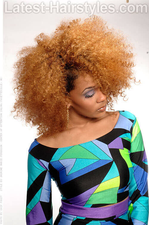 Caramel Haircolor with Curls