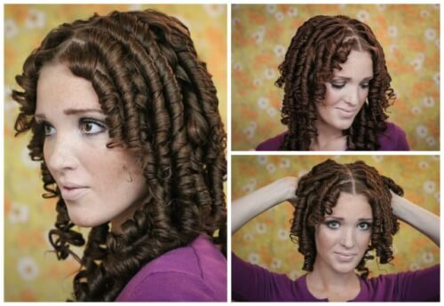 Super Curly Ringlet Hairstyle