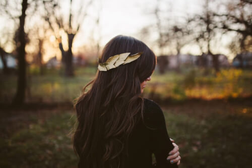 Gilded Leaf Crown Hair Accessory