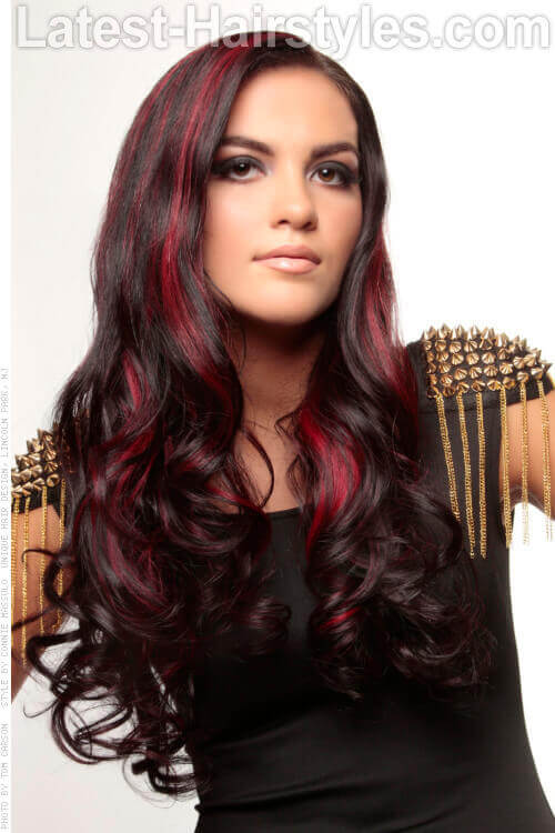 Long Hairstyle with Highlights