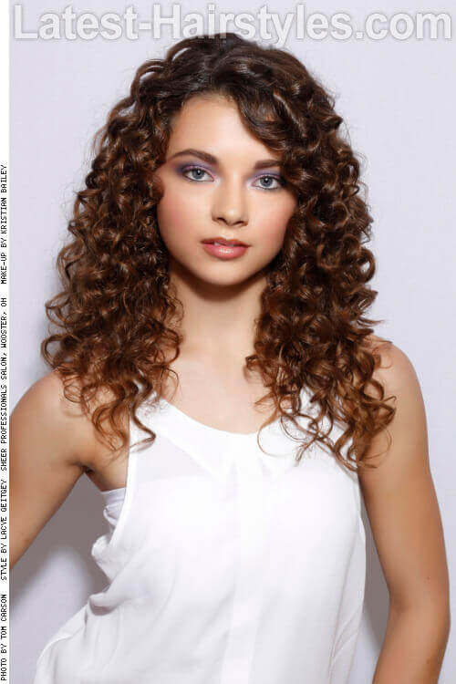 Long Hairstyle with Natural Curls