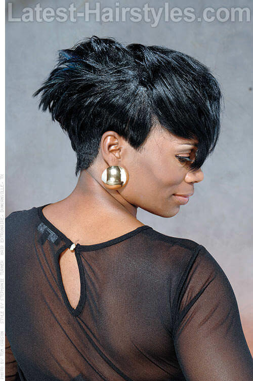 Short Hairstyle with Angles Side