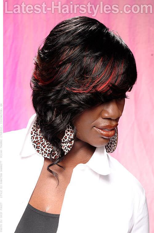 Short Medium Length Quick Weave Hairstyle