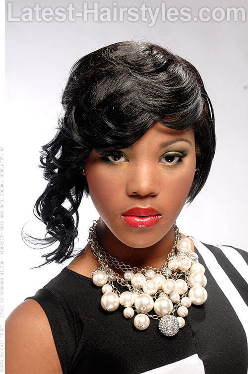 Deep Wave Weave Short Hairstyle for Black Women