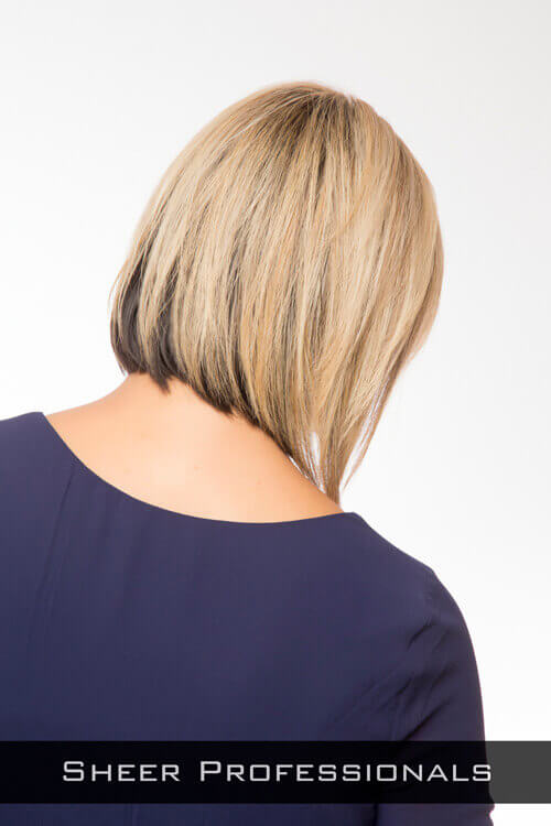 Sleek Simple Hairstyle for Thin Hair Back