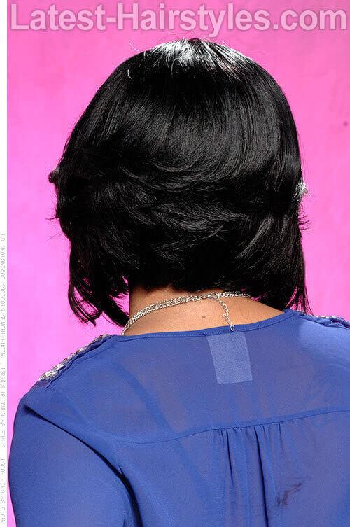 Asymmetrical Bob Soft Wavy Style