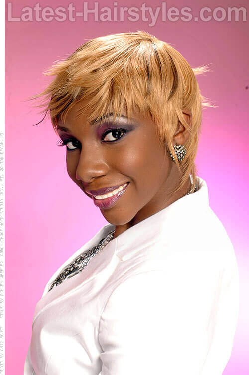 Pixie Cut With Color For Black Women Blonde Pixie Cut For a Black