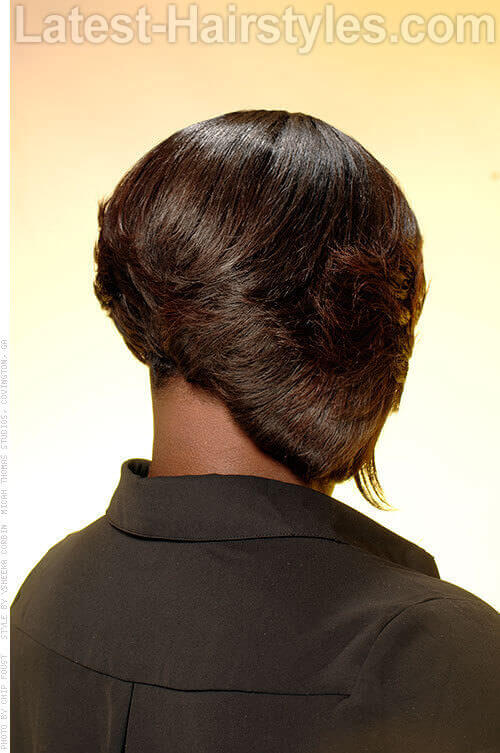 Brown Bob Professional Style Back View
