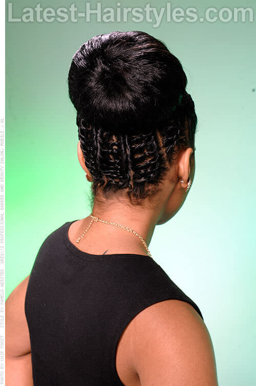 Classic High Bun with a Twist